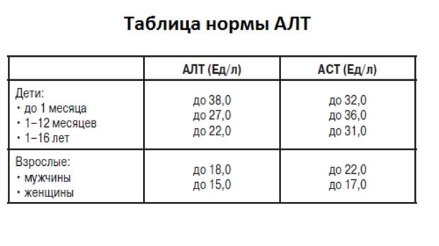 Анализа алт норма взрослого крови у на анализ крови норма влп